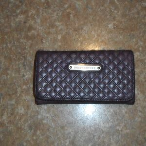 Juicy Couture Wallet Leather Quilted Rich Purple